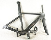 Wholesale 1k carbon road frame - Packaged for sale full carbon fiber UD BOB Black on Black CARROWTER carbon road bike frames+CARROWTER 1K aero carbon Handlebar free shipping