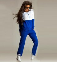 Wholesale warm tracksuits for women online – oversize 2 piece set women Autumn Keep warm Long Sleeve Hoodies Sweatshirts casual tracksuit for women two piece set top and pants Suit