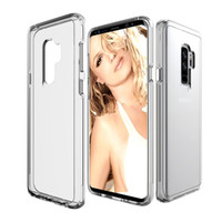 Wholesale phone covers accessories - For Samsung Galaxy S9 Case Transparent Clear Hybrid Bumper Shockproof Case Cover Phone Accessories For Samsung S9 S9plus