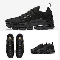 c9da988c10 2018 gros de haute qualité arc-en-ciel noir complet noir blanchi TN hommes  Run Run Sport chaussures Sneakers chaussures de course taille 36 air 45 Nike  Air ...