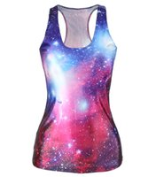 Wholesale Wholesale Galaxy Shirts - 2017 Summer New Fashion Women 3D T-Shirt Animal Tiger Galaxy Punk Style Printed T Shirt Casual Brand T Shirts One Size