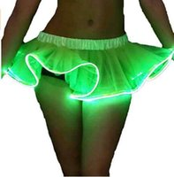 Wholesale Wire Skirt - New Cute Fashion Lady Light Up Tutu Gogo Dancing El Wire Accessory Clothing Skirt Rave Gear EDM