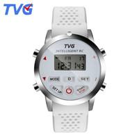 tvg saatleri toptan satış-TVG Lüks Akıllı Saatler için Mens Rahat Silikon Kayış Dijital Spor İzle Adam Çift Ekran Japonya Kuvars Tarih Gün Hafta