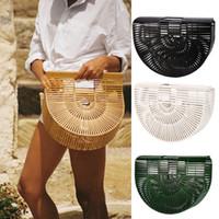 Wholesale womens large fashion handbags - Brand Designer Fashion Womens Retro Bamboo Handbag Lady Large Tote Bags Shoulder Bag Cult Gaia 3 Colour Small