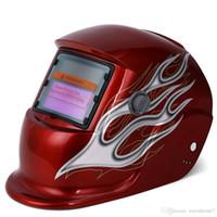 mercek kaynakçı toptan satış-Elektrik Kaynak Kask Güneş Enerjisi Otomatik Kararan Kafatası Maskesi / Kask / kaynakçı Kap / Kaynak Makinesi için Kaynak Lens Ücretsiz Kargo VB