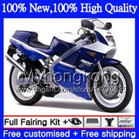 Wholesale Motorcycle 1995 - Fairing Motorcycle For SUZUKI RGV250 VJ22 90 91 92 93 94 95 96 Blue white 38MY8 RGV-250 VJ 22 RGV 250 1990 1991 1992 1993 1994 1995 1996 96