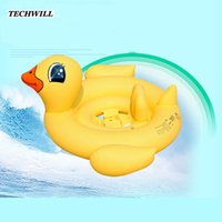 Wholesale inflatable rings for baby swimming resale online - Water Sports Flamingo Inflatable Ring Baby Cute Swimming Rings For Years Old Kids Animal Bathing Circle Swimming Pool Accessories