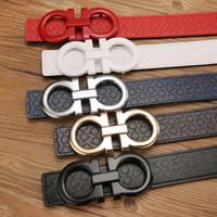 Wholesale Formal Belts - 2018 Big buckle with belt box men or women belt High quality belts designer genuine leather belt for men women belts free shipping