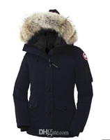 Wholesale man casual clothes for winter online - Winter outdoor canada jackets for women s thicken casual comfortable thickening warm down clothes women Goose down jacket winter coat