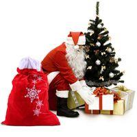 Wholesale large candles wholesale - Large Gift Bag Hessian Christmas Santa Sack Xmas Stocking Santa Claus Gifts Bag
