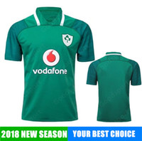 Wholesale Free Man Clothing - 2018 New Ireland Rugby Jersey All Black Rugby Shirt Teams Rugby Clothes Free Shipping New Hot Sale Coming sport CHEA WHOLESALE SHIRTS
