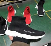 Wholesale toe sports socks - Unisex casual shoes 2017 Paris Europe and the United States new Elastic socks shoes High help Lovers sports shoes 36-45