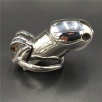 ingrosso gabbia di obbligazione-Kit di cintura HT in metallo per castità in acciaio inossidabile per castità maschile