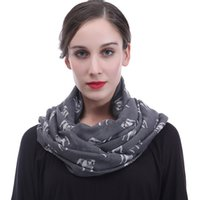 Wholesale dog infinity scarf online - Cute Bulldog Dog Pet Animal Print  Women Infinity Loop Scarf 57162a7fefa8