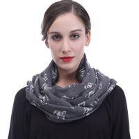 Wholesale dog infinity scarf online - Cute Bulldog Dog Pet Animal Print  Women Infinity Loop Scarf 57162a7fefa8