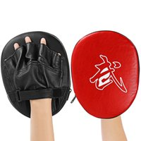 Wholesale boxing punching mitts - 160103801 1pcs Focus Boxing Punch Mitts Training Pad for MMA Karate Muay Thai Kick