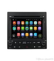 Wholesale Dvd Car Peugeot - Car audio stereo Fit for PEUGEOT 405 PG android 7.1.1 hd 1024*600 car dvd player gps radio 3G wifi bluetooth mirror link obd2 and camera