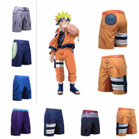 Wholesale naruto big - Student Mens Beach Shorts 3D Printing Basketball Naruto Dragon Ball Sports Big Boys Pants Mesh Board Shorts KKA4669