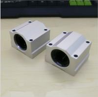 Wholesale linear ball cnc - 2 pcs lot SC16UU SCS16UU 16mm linear ball bearing block pillow block for cnc parts SC16