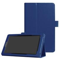 soporte de soporte de fuego kindle al por mayor-Funda Kindle Fire 7, cubierta de soporte de cuero PU con estilete para Amazon Kindle Fire 7 5th (2015) y 7th (2017)