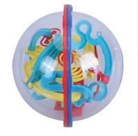 akıl oyunu toptan satış-3D Küresel Labirent Akıl Topu Haddeleme Topu Denge Oyunu Bebek Beyin Teaser Oyuncak Çocuk Gelişim Oyuncaklar Hediye 3D Topu Labirent Bulmaca