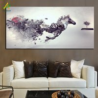 Wholesale Personalized Picture Canvas - YWDECOR Personalized Creative Running Horse Canvas Painting HD Prints on Canvas Poster Wall Art Picture Living Room Home Decor