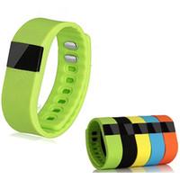 tw64 смарт браслет смотреть оптовых-TW64 смарт-часы Bluetooth часы браслет смарт-группа счетчик калорий шагомер спорт активность трекер для iPhone Samsung Android IOS