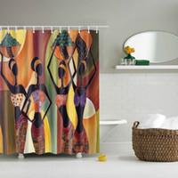 photos salle de bains achat en gros de-3D Decor Collection Nautique Coloré Paysage Marin Image Imprimer Salle De Bains Ensemble Tissu Rideau De Douche avec Crochets Nouveau