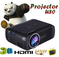 Wholesale U80 Mini Projector Lumens HDMI LCD Home Theater Beamer LED Uhappy Proyector Support Full UHD p Video Media player