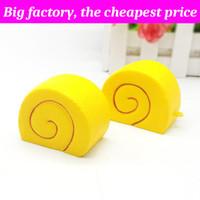 sarı cep telefonları toptan satış-Squishy Süt sarı kek 4.4 cm * 5.5 cm Yavaş Yükselen Yumuşak Sıkmak Sevimli Cep Telefonu Askı hediye Stres çocuk oyuncakları Dekompresyon Oyuncak