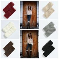 Wholesale girl knit boots online - 6styles Girls Winter Short Leg Warmers Fashion Knit Wool Women Warm Crochet Knit Boot Cuffs Sock Flowers Knit Toppers fashion FFA1130