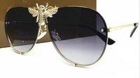 дизайнер солнцезащитные очки женщина поле оптовых-Роскошные 2238 солнцезащитные очки Мужчины Женщины Марка дизайнер популярная мода Большой летний стиль с пчелами высокое качество УФ-защиты объектива поставляются с коробкой