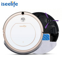 Wholesale cyclone mop - 2017 Iseelife Smart Robot Vacuum Cleaner For Home 2 In1 Pro1s Dry Wet Mop Auto Charge Cleaning Robotic Cleaner Robot Aspirador