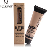 Wholesale miss rose makeup foundation resale online - Hot Makeup MISS ROSE Liquid Foundation Faced Concealer highlighter makeup Fair Light contour Concealer Base Makeup