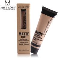 maquiagem quente base venda por atacado-Maquiagem quente MISS ROSE Líquido Fundação Facial Concealer marcador de maquiagem Fair / Contour Contorno Base de Maquiagem