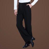 pantalones modernos al por mayor-Pantalones de baile masculino Pantalones de baile latino para hombre Profesionales Samba Salsa Tango Cha Cha Moderno Disfraces de baile