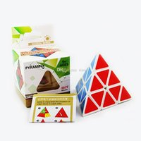 Wholesale Pyramid Shape Magic Cube Ultra smooth Speed Magico Cubo Twist Puzzle DIY Educational Toy for Children Kids Colors
