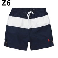Wholesale swimwear men online - Summer mens swimwear boys Board shorts pants navy beach surfing shorts men swimming trunks swim short swimsuit Elastic gym