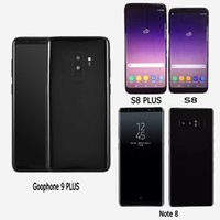 Wholesale Unlock Smart Phones - Goophone 9 PLUS S8+ i8 Note 8 X Unlocked Cell Phones quad core 1G ram 4G rom 6.2inch full Screen Show 128GB fake 4g lte Android Smartphone