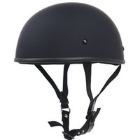 Wholesale chopper half helmets resale online - Handmade light weight motorbike helmet Vintage style chopper bike helmet Classic half face no mushroom design DOT approve