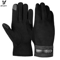Wholesale Touch Screen Glove Cotton - Vbiger Men Vbiger Winter Touch Screen Gloves Winter Warm Gloves Thick Warm Mittens Sports