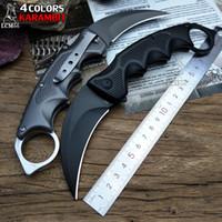 bestes edc festes messer großhandel-LCM66 faltendes Karambit-faltendes Messer csgo Geschenk-taktisches Taschen-Messer, kampierendes Dschungelüberlebendkampf Selbstverteidigungwerkzeug des im Freien