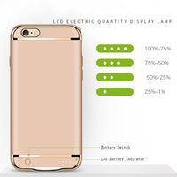 Wholesale battery powered cell phone case - Phone Cases Power Bank For Apple iPhone 8 7 6s 6 Plus Full Body Cover With 3500mAh Powerbank Battery Cell Phone Case