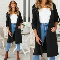 fa62e9b38ed3 2018 New Long Trench Coat Cape For Women UNIF Autumn Outfits Women s  Windbreaker Cardigan Overcoat Fashion Women Cloth Outwear