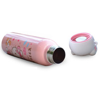 Wholesale hello kitty coffee online - 1PCS Stainless Steel Cartoon Hello  Kitty Insulated Thermos Cup Travel 6f86e490900df