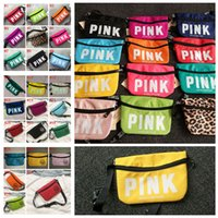 Wholesale girls tennis - 24styles Pink Beach Waist Bag Travel Pack Fanny Collection handbag Fashion Girls Purse Bags Outdoor Cosmetic Bag FFA405 30PCS