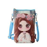 Wholesale wholesale bao - Wholesale- 2017 Hot Cute Purse Bao Bao Girls Crossbody Bag Cartoon Printed PU Leather Messenger Bag Women Mini Shoulder Bags Sac Femme B005