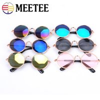Wholesale pink eye photos - MEETEE Dog Cat Glasses For Pet Products Eye-wear Dog Pet Sunglasses Photos Props Accessories Pets Supplies Cat Glasses DC-159