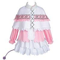Wholesale pink maid cosplay online - Kobayashi san Dragon Maid Kanna Cosplay Costume Pink Skirt Outfit Suit Uniform Dress