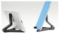 katlanabilir telefon tutacağı standı toptan satış-Evrensel Tablet PC Tutucu Katlanabilir Ayarlanabilir Açı Danışma Telefon Samsung IPad Tablet PC Için Esnek Standı Tutucu